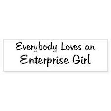 Enterprise Girl Bumper Bumper Sticker