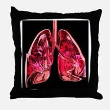 Lungs, artwork - Throw Pillow