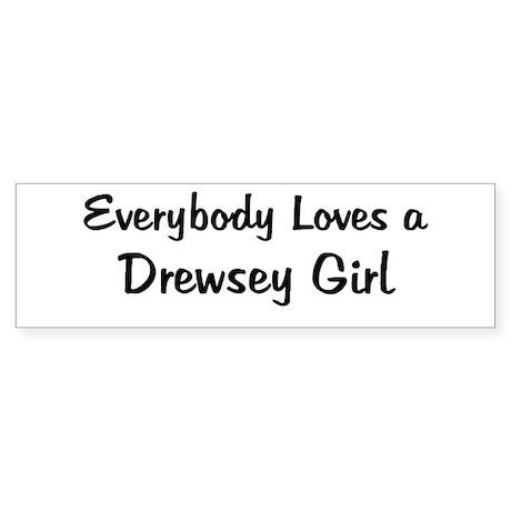 Drewsey Girl Bumper Sticker