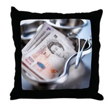 Medical costs - Throw Pillow