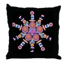 Diatom assortment, SEMs - Throw Pillow