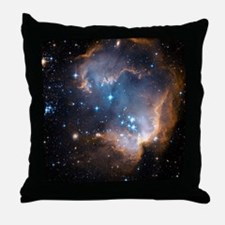 Starbirth region NGC 602 - Throw Pillow