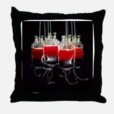 Suspended blood bags - Throw Pillow