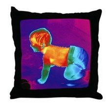 Thermogram of a baby - Throw Pillow