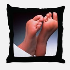Soles of feet - Throw Pillow
