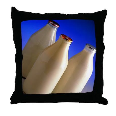 Three types of bottled milk