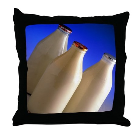 Types Of Decorative Pillow : Three types of bottled milk - Throw Pillow by sciencephotos