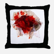 Blood stained tissue - Throw Pillow