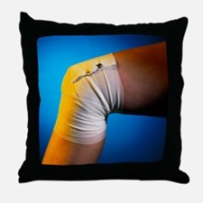 View of a bandaged knee - Throw Pillow