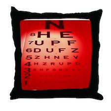 View of a Snellen eye test chart - Throw Pillow