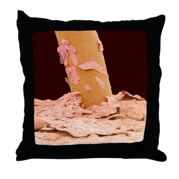 Eyelash, SEM - Throw Pillow by sciencephotos
