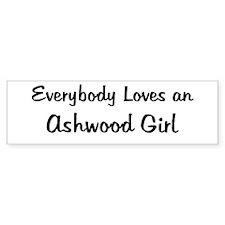 Ashwood Girl Bumper Bumper Sticker