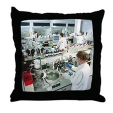 Chemistry laboratory - Throw Pillow