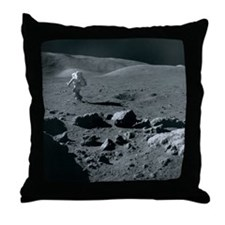 Apollo 17 astronaut - Throw Pillow