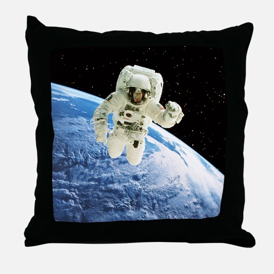 Composite image of a spacewalk over Earth - Throw
