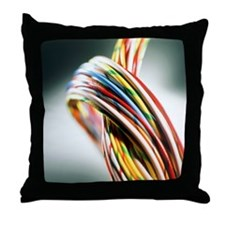 Computer cables - Throw Pillow