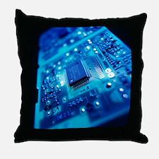 Computer circuit board - Throw Pillow