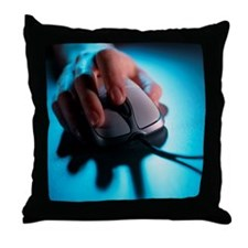 Computer mouse - Throw Pillow