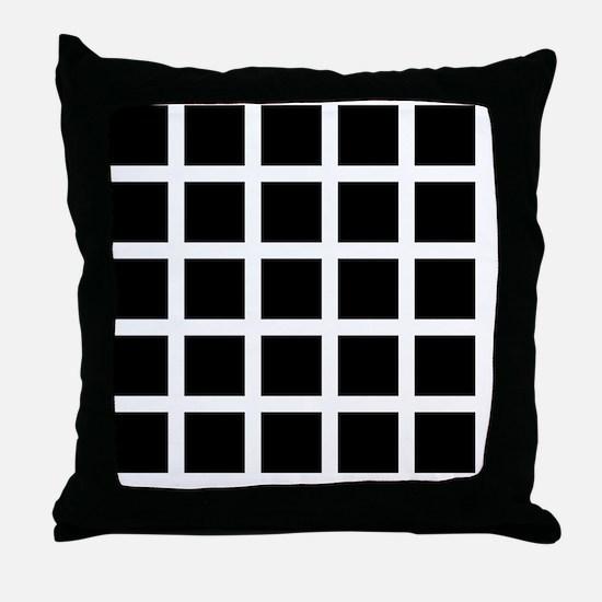 Hermann grid - Throw Pillow