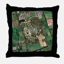Menwith Hill spy base, aerial image - Throw Pillow