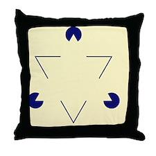 Kanizsa triangle - Throw Pillow