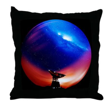 Spacecraft tracking antenna - Throw Pillow