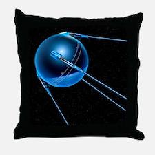 Sputnik 1 satellite - Throw Pillow