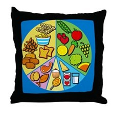 Balanced diet - Throw Pillow