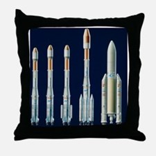 Artwork showing the Ariane series of launchers - T