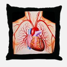 Human heart, artwork - Throw Pillow