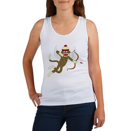 Sock Monkey Cupid Women's Tank Top