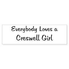 Creswell Girl Bumper Bumper Sticker