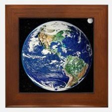 Earth from space, satellite image - Framed Tile