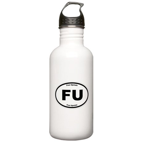 Free Upstate (B&W) Stainless Water Bottle 1.0L