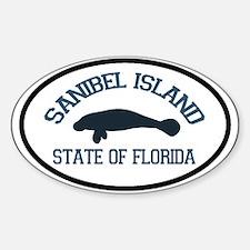 Sanibel Island - Manatee Design. Decal