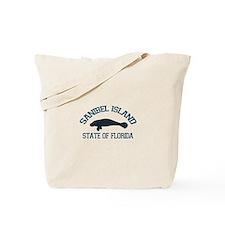 Sanibel Island - Manatee Design. Tote Bag