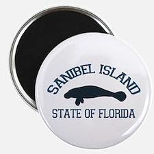 Sanibel Island - Manatee Design. Magnet