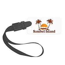 Sanibel Island - Palm Trees Design. Luggage Tag