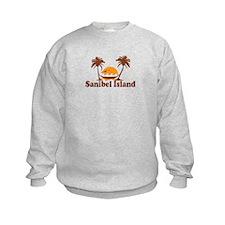 Sanibel Island - Palm Trees Design. Sweatshirt