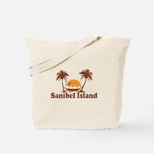 Sanibel Island - Palm Trees Design. Tote Bag