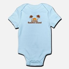 Sanibel Island - Palm Trees Design. Infant Bodysui