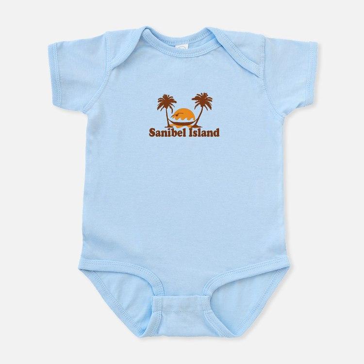 Sanibel Island - Palm Trees Design. Infant Bodysui