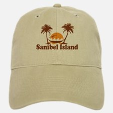 Sanibel Island - Palm Trees Design. Baseball Baseball Cap