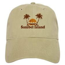 Sanibel Island - Palm Trees Design. Baseball Cap