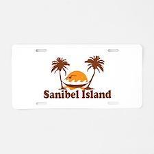 Sanibel Island - Palm Trees Design. Aluminum Licen
