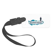Sanibel Island - Surf Design. Luggage Tag