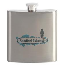 Sanibel Island - Surf Design. Flask