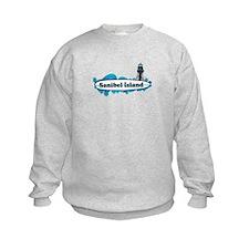 Sanibel Island - Surf Design. Sweatshirt