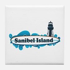 Sanibel Island - Surf Design. Tile Coaster