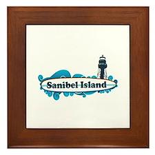 Sanibel Island - Surf Design. Framed Tile